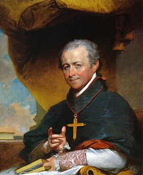 280px Bishop Jean Louis Anne Magdelaine Lefebvre de Cheverus by Gilbert Stuart 1823